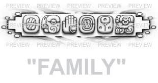 family mayan glyphs design c aztec tattoos aztec