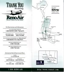 Skywest Route Map by Airline Timetables Reno Air October 1996