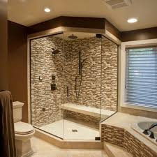 Bathroom Natural Stone Bathroom Shower Design Brightpulse Us