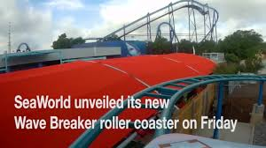 seaworld unveils wave breaker roller coaster inspired by