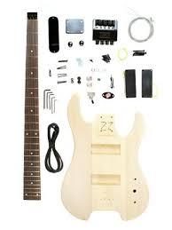 stellah unfinished headless bass guitar kit project u2013 diy new