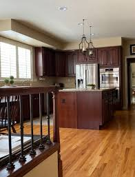 what color flooring to use with cherry cabinets an early 2000 s kitchen update with benjamin white