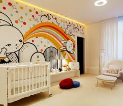 cute rabbit mural to adorn baby room decorating ideas with vintage
