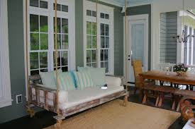 superb wooden porch swings in porch farmhouse with swinging day