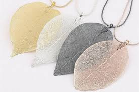 real leaf necklace images Real leaf jewellery look4ward store jpg