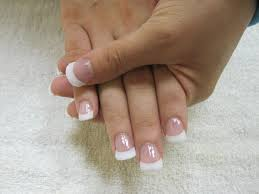 pink nails with white tips how you can do it at home pictures