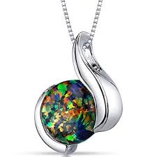 black opal necklace images Created black opal pendant necklace sterling silver jpg