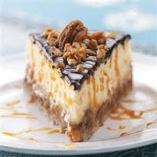 layered turtle cheesecake recipe taste of home