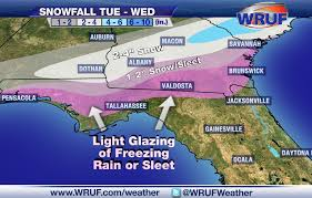 Map Of Gainesville Florida by Rare Winter Storm Could Make Travel Hazardous In Panhandle Tuesday