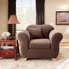 White Armchair Slipcover Tips Soft T Cushion Chair Slipcovers For Elegant Interior