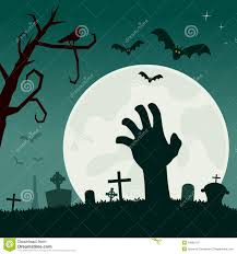 halloween night background halloween night headstone u0026 zombie hand stock vector image 77553973