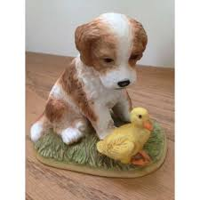homco puppy dog with duckling 1413 home interiors