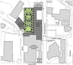 plan advances for apartments hotel green roof on a garage in
