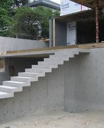cypress u2013 cantilevered concrete stair home building in vancouver