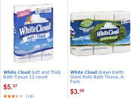 White Cloud Bathroom Tissue - white cloud bath tissue just 2 98 at walmart grocery shop for