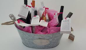 bridal shower wine basket bridal shower gift diy to try a basket of firsts for the