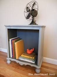 Nightstand Bookshelf Two Toned Small Grey Bookshelf The Weathered Door