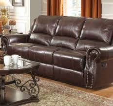 Flexsteel Recliner Sofas Center Leather Recliner Sofa Veneto Brown Reclining