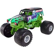 wheels monster jam grave digger truck wheels monster jam giant grave digger vehicle walmart com