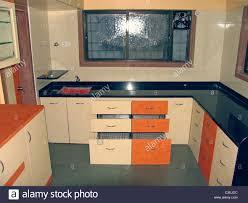 Interior Of A Kitchen Interior Of A Kitchen In A Flat At Pune Pune Maharashtra India
