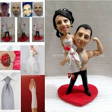 customized cake toppers custom weeding cake toppers figurines bodybuilder my custom