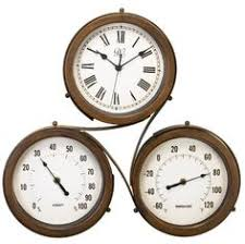 Patio Clocks Outdoor Thermometer Outdoor Clock Thermometer Outside Rust Free Antique Look Deck