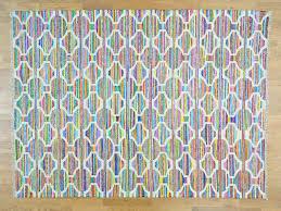 Sari Silk Rugs by 9 U0027x12 U0027 Hand Woven Colorful Kilim Cotton And Sari Silk Oriental Rug