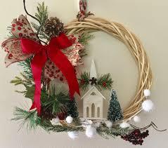 winter church willow wreath nursing home wreath front door