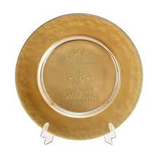 25th anniversary plates personalized personalized 50th wedding anniversary gifts 50 year gold plates