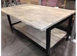 metal kitchen island tables reclaimed wood and metal kitchen island heirlooms and hardware