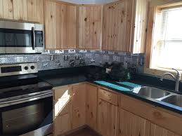 aluminum backsplash kitchen gwen s cabin aluminum backsplash tile 0512 dct gallery
