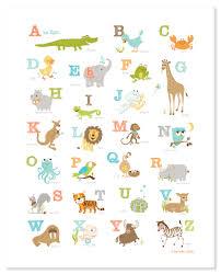 animal alphabet poster baby shower gift animal poster abcs zoom