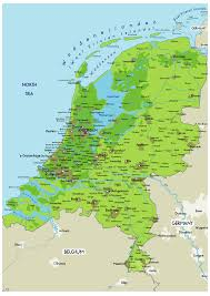 netherlands map large physical map of netherlands