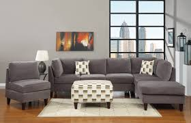 Gray Microfiber Sectional Sofa Living Room Grey Living Room Ideas Hd Wallpaper