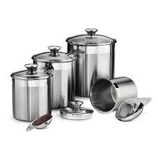 stainless steel kitchen canister sets tramontina gourmet 8 pc stainless steel kitchen canister set