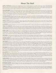 Program For Designing Clothes Ann Arbor Civic Theatre Program Sweet Charity September 11 1991