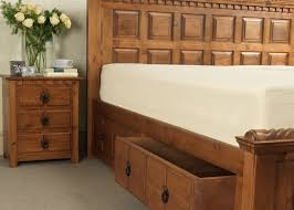 Tidy King Bed With Storage by Traditional Wooden Bed Country Kerry