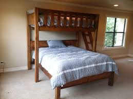 bunk beds twin over full size bed with desk at queen birdcages