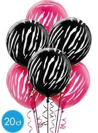 Party City Balloons For Baby Shower - birthday wedding baby shower damask print balloons black pink