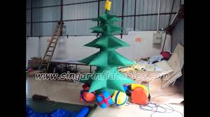 inflatable christmas trees decoration youtube