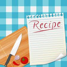fonds de cuisine fond de conception de recette de cuisine illustration de vecteur
