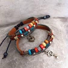 hand made bracelet images Handmade leather weave lovers bracelets fashion bracelets jpg