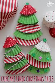 Making Decorations For Christmas Tree by Cupcake Liner Christmas Tree Ornaments