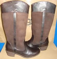 s ugg australia lodge boots ugg australia cassis lodge brown leather boots size us 9 eu