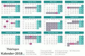 Kalender 2018 Hamburg Schulferien Ferien Thüringen 2018 Ferienkalender übersicht