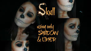 halloween skull makeup halloween skull makeup tutorial using only eyeshadow and liner