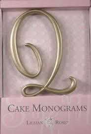 lillian cake topper x monogram wedding cake topper by lillian small gold