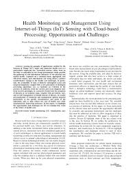 health monitoring and management using internet of things iot