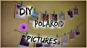 super easy diy polaroid pictures how to hang them up youtube