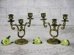 candles holders home decor home living couple vintage antique double brass candle holders candelabra